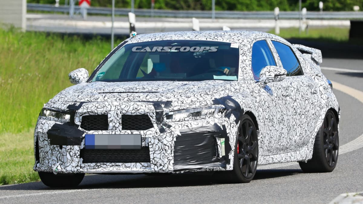 Honda Civic Type R 2020 Test Car front