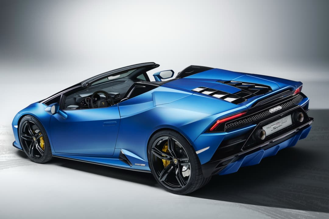 Lamborghini Huracan EVO RWD Spyder rear three quarter