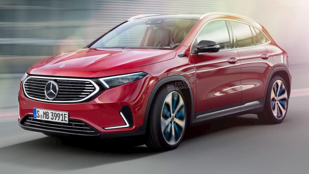 Mercedes Benz EQA rendered by AutoExpress front