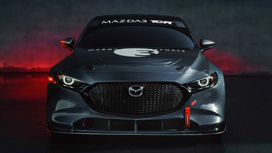 Mazda 3 TCR Race Car front