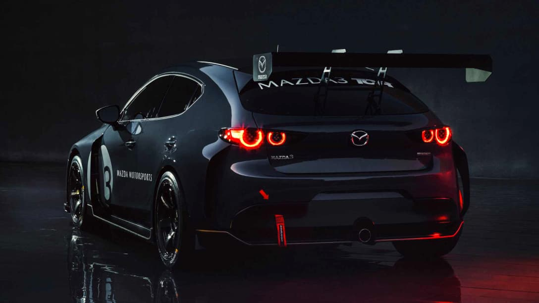 Mazda 3 TCR Race Car rear