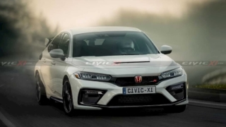 Honda Civic Type R Rendered by Civic XI Front