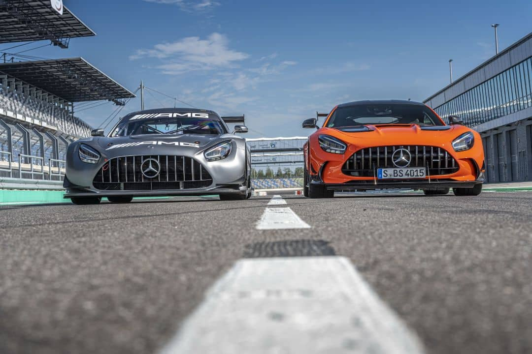 Mercedes AMG Black Series and AMG GT3 Front