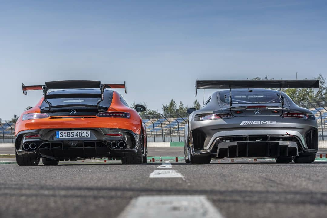 Mercedes AMG Black Series and AMG GT3 Rear