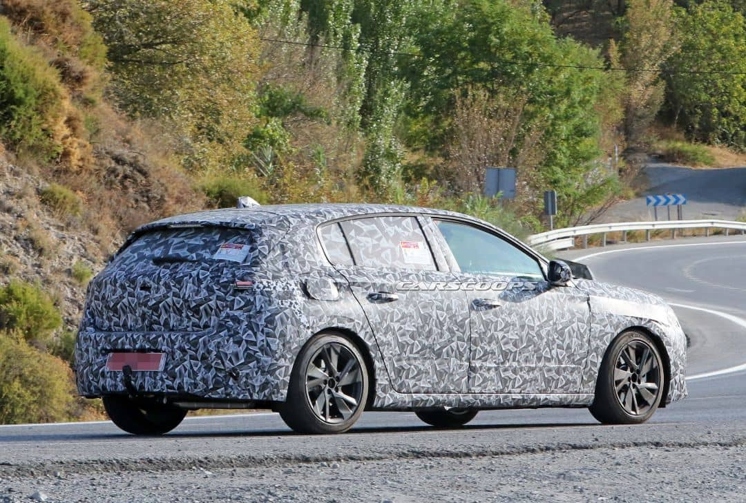 Peugeot 308 3rd Gen Spyshot Rear three quarter
