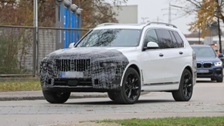 BMW X7 Facelift 2022 Spyshot Front three quarter