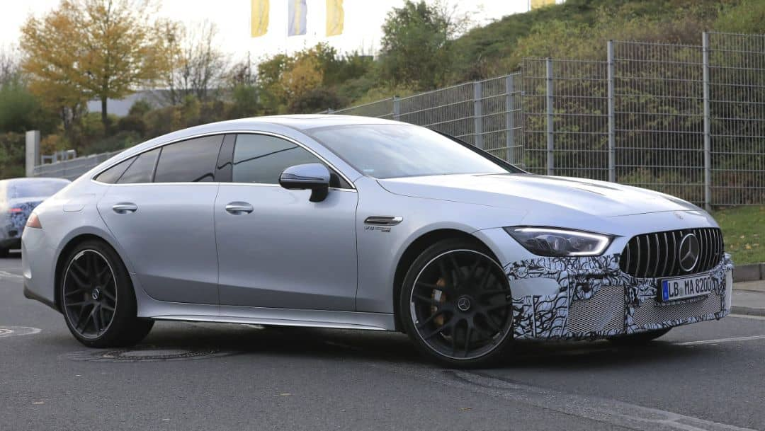 AMG GT 4door Coupe 2021 Facelift Spyshot Front three quarter