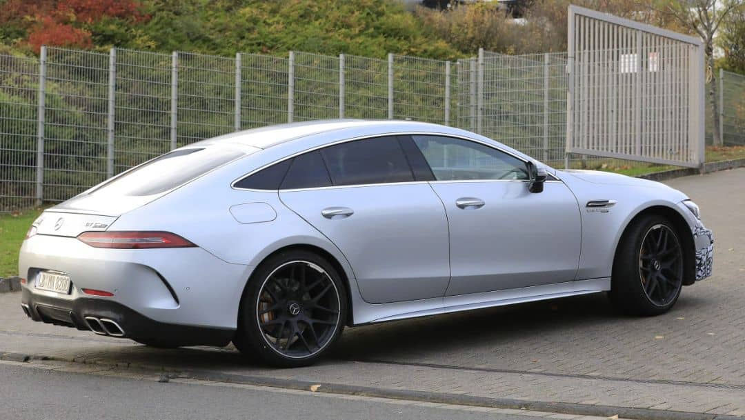 AMG GT 4door Coupe 2021 Facelift Spyshot Side