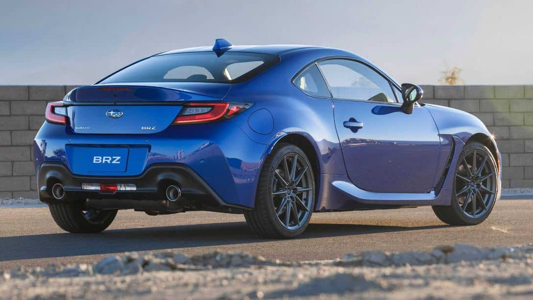 Subaru BRZ 2nd Gen Rear three quarter