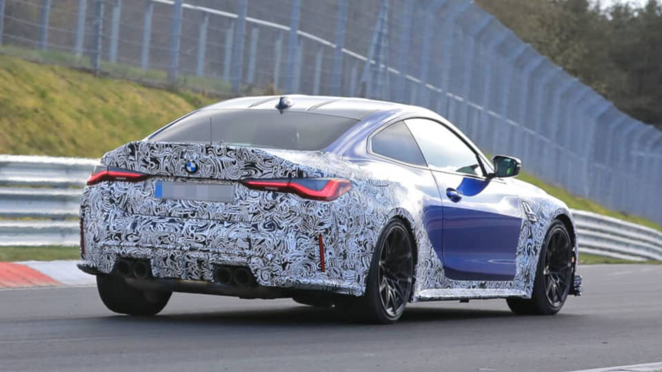 BMW M4 CSL Spyshot Rear three quarter