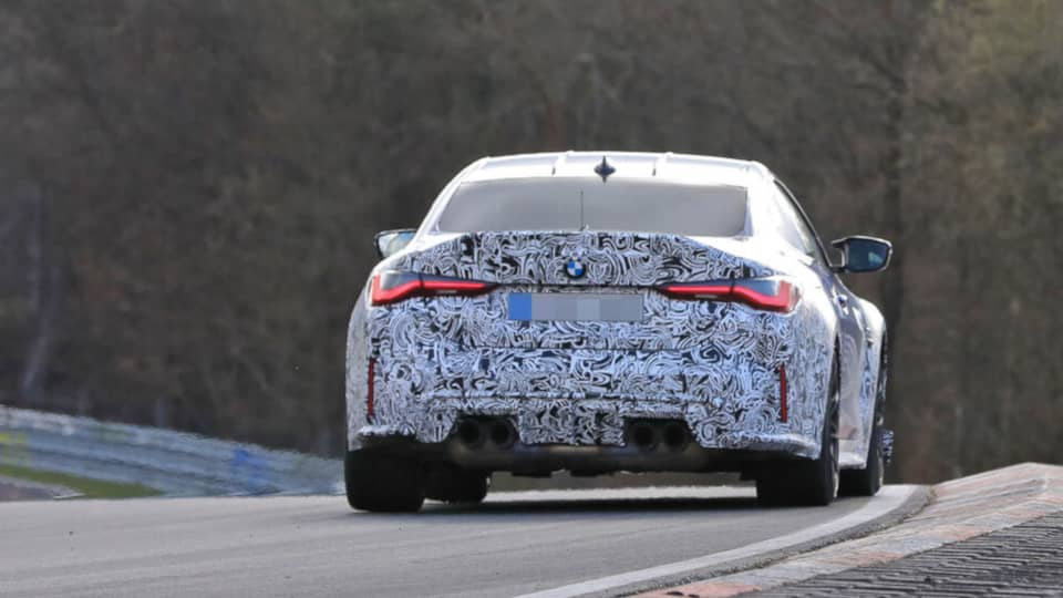 BMW M4 CSL Spyshot Rear