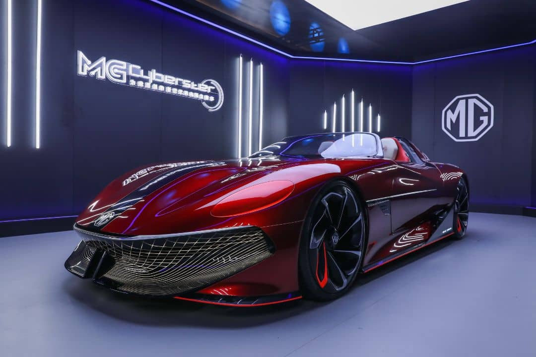 MG Cyberster Concept Front three quarter