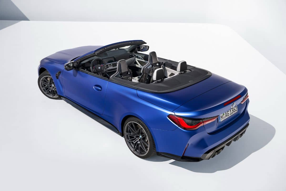 BMW M4 Competition Convertible Rear three quarter