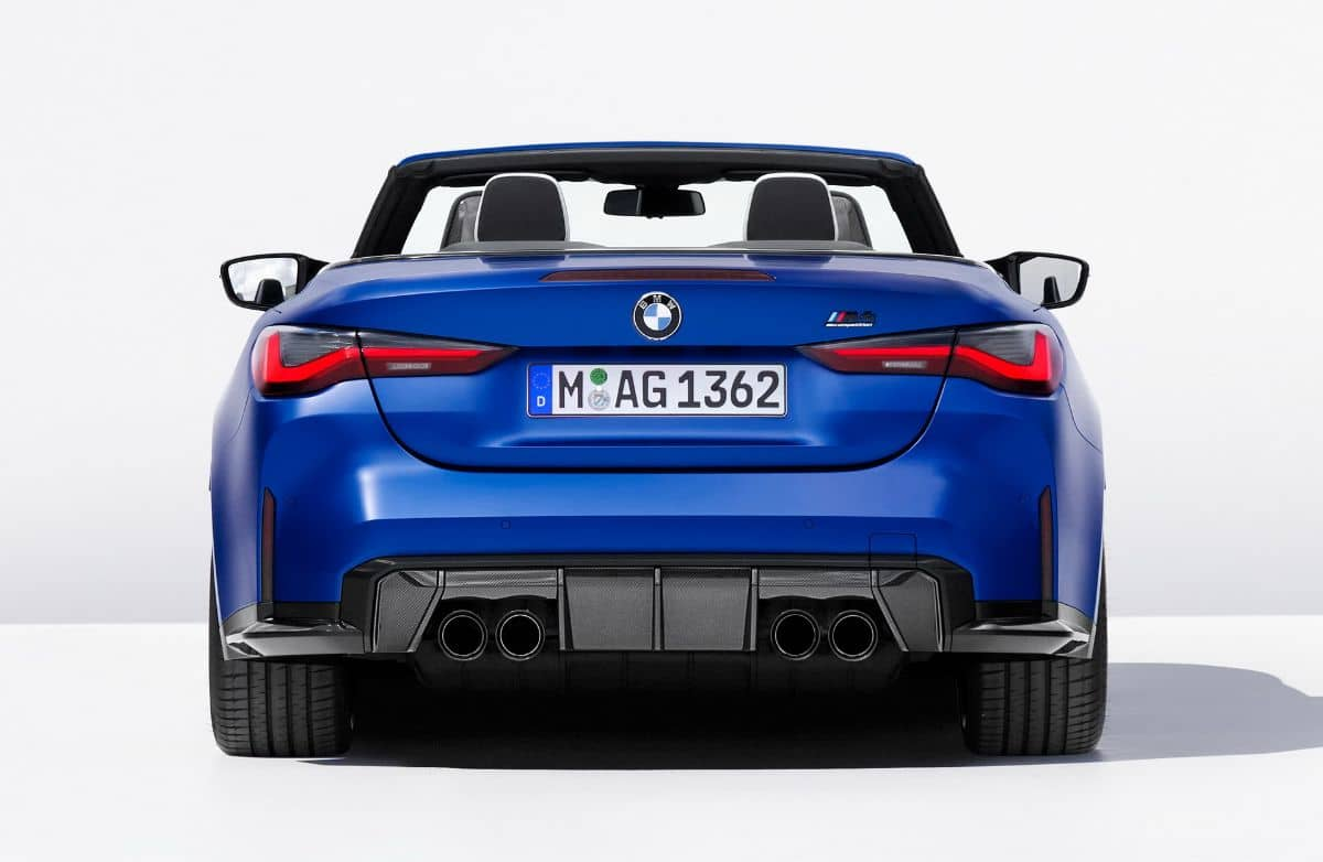 BMW M4 Competition Convertible Rear