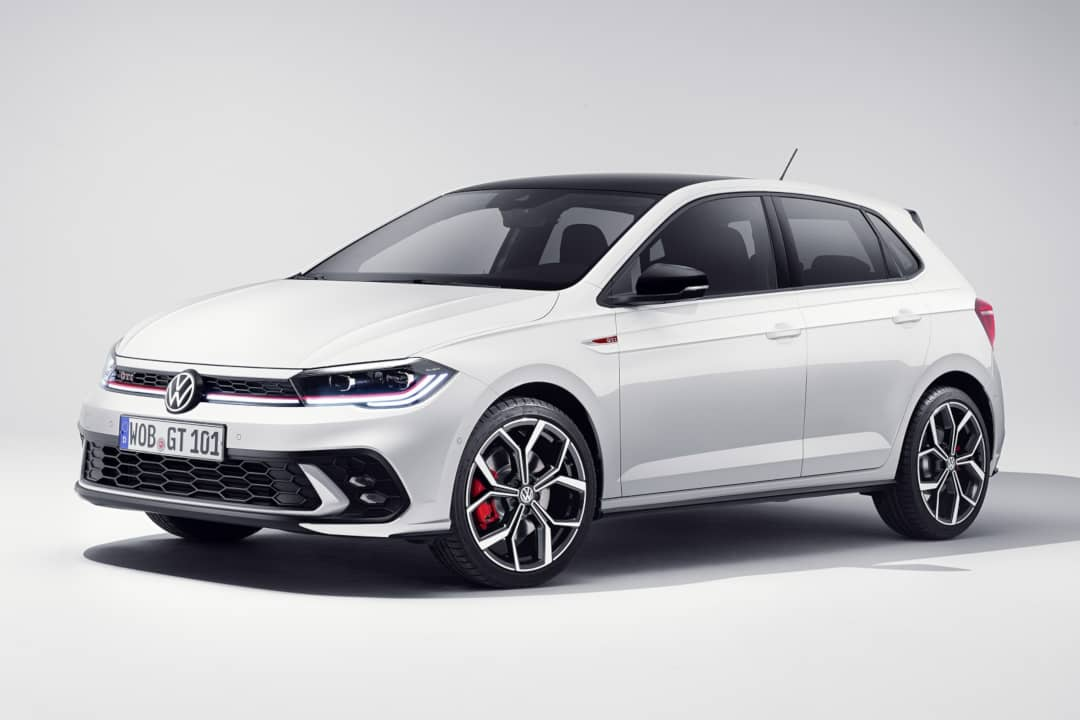 VW Polo GTI Facelift 2021 Front three quarter