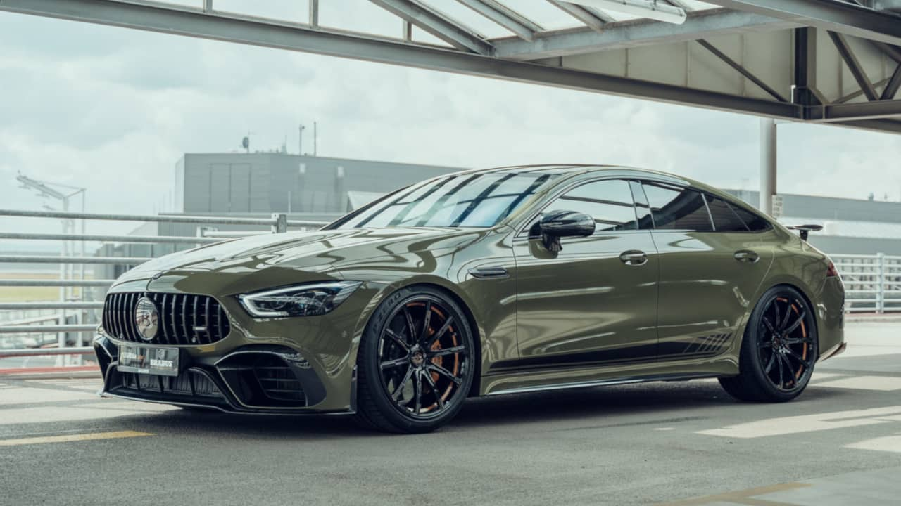 Brabus and Fostla AMG GT 63S 4door Coupe Front side