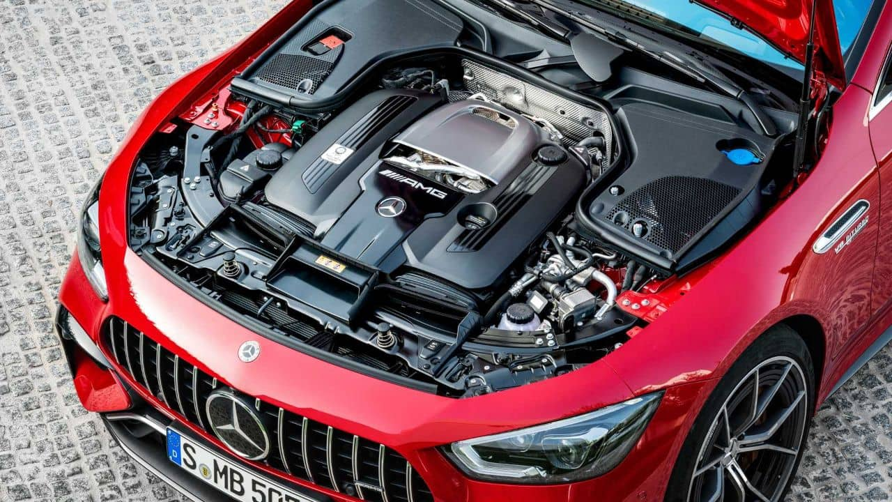 Mercedes AMG GT 63S E Performance Engine